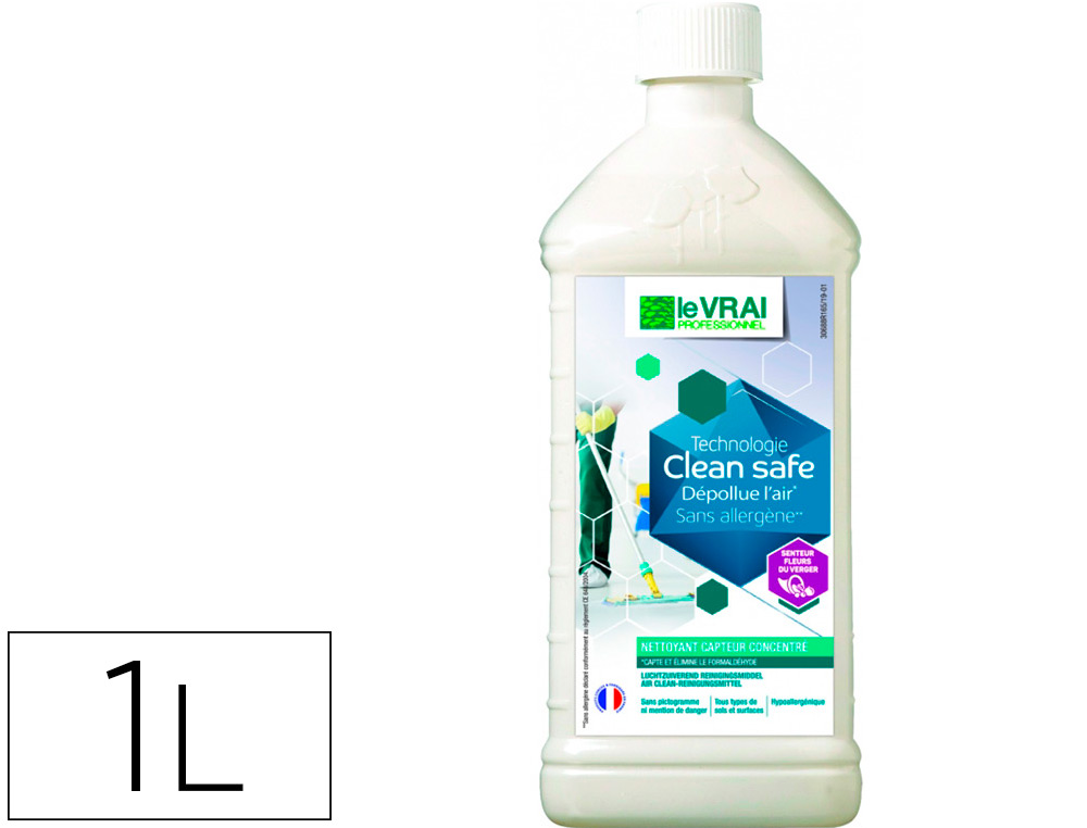 NETTOYANT CLEAN SAFE FLACON 1L