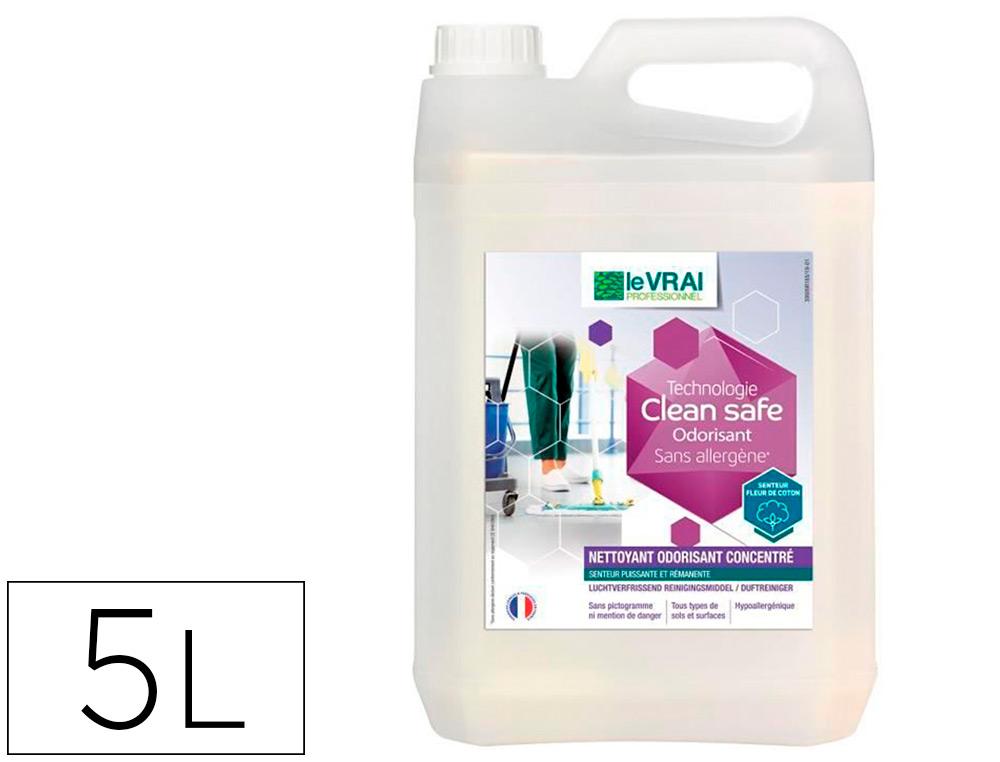 NETTOYANT ODORISANT CLEAN SAFE BIDON 5L