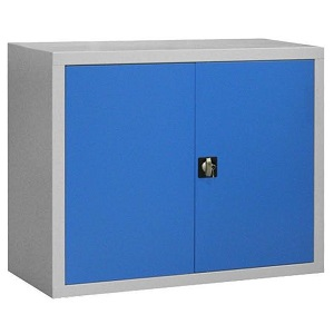 Armoire sécurisée - 2 portes battantes - H1000 x L1200 x P450 mm - Gris clair