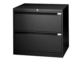 Crédence Noire 2 tiroirs
