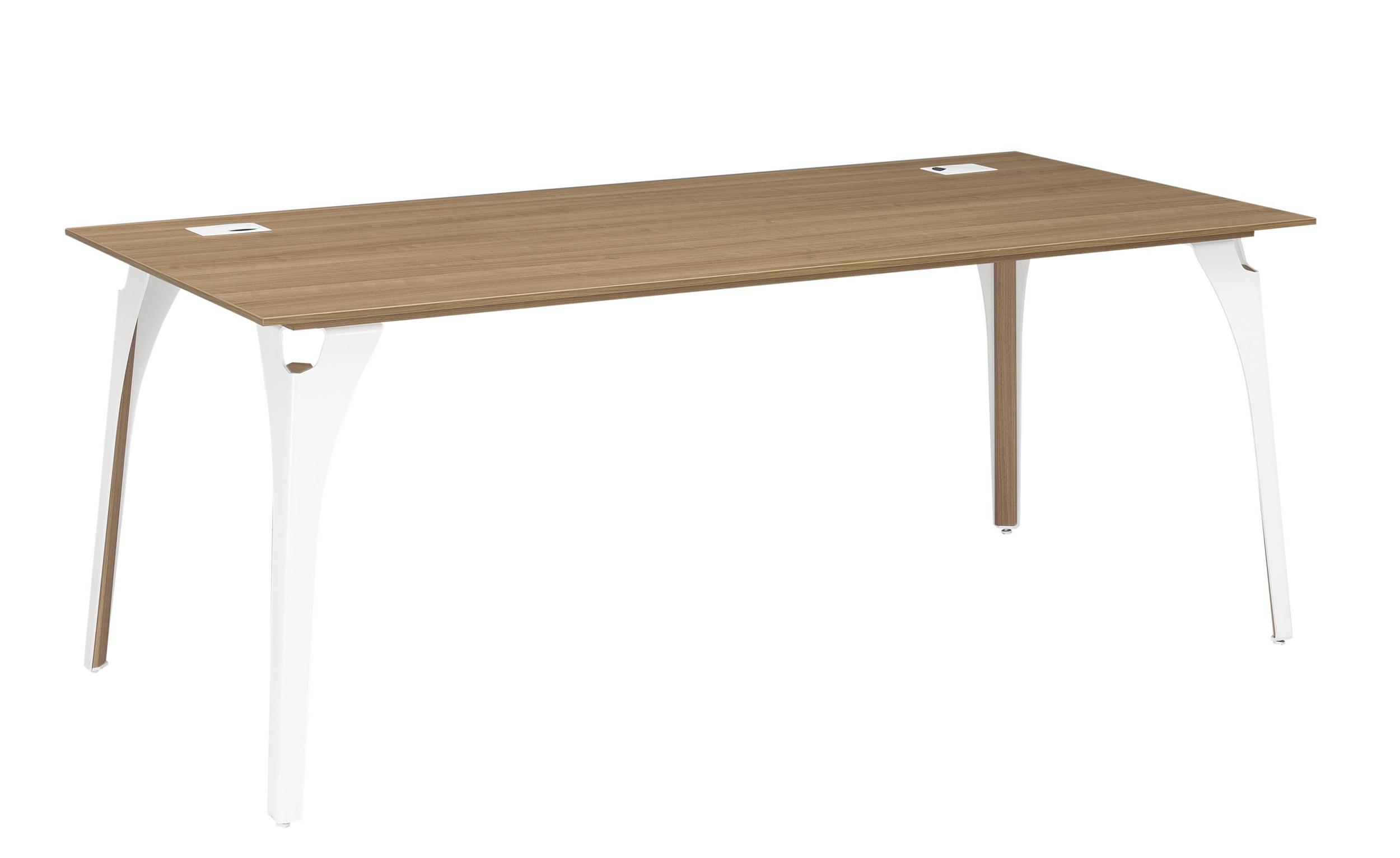 xenon merisier bureau pieds m tal largeur 170cm mobilier de direction par famille xenon