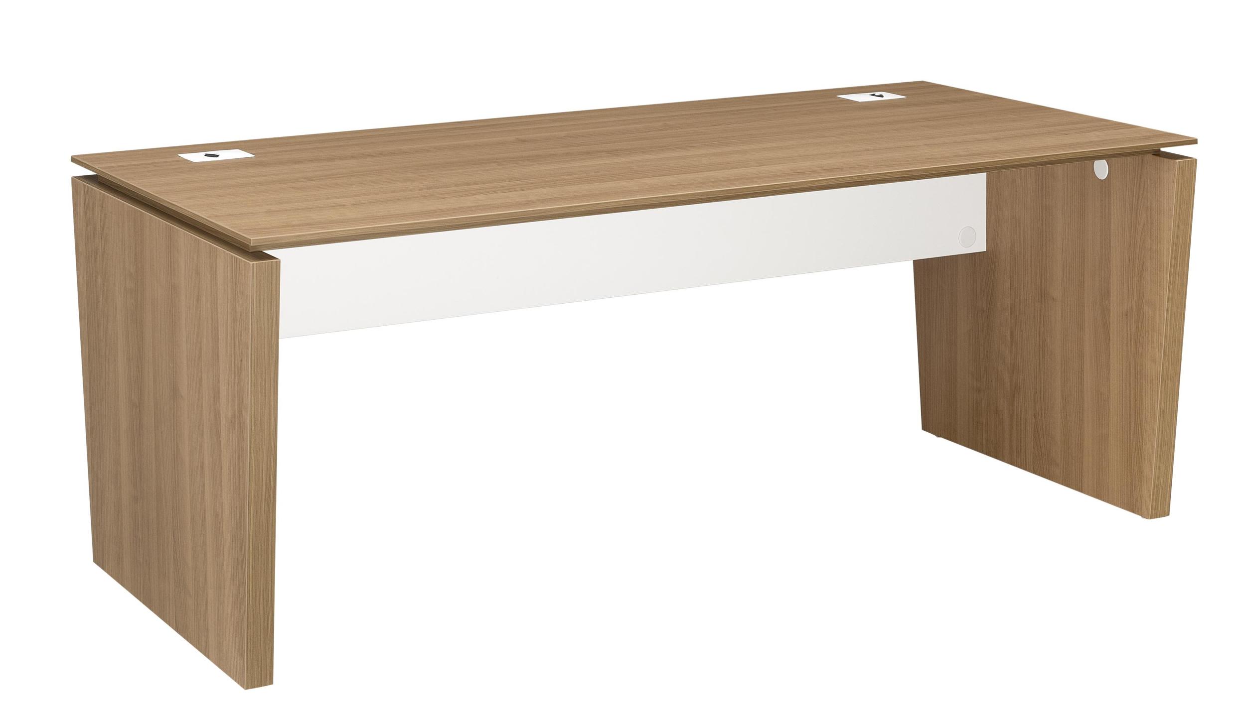 Xenon merisier bureau pieds panneaux largeur 190cm for Largeur bureau