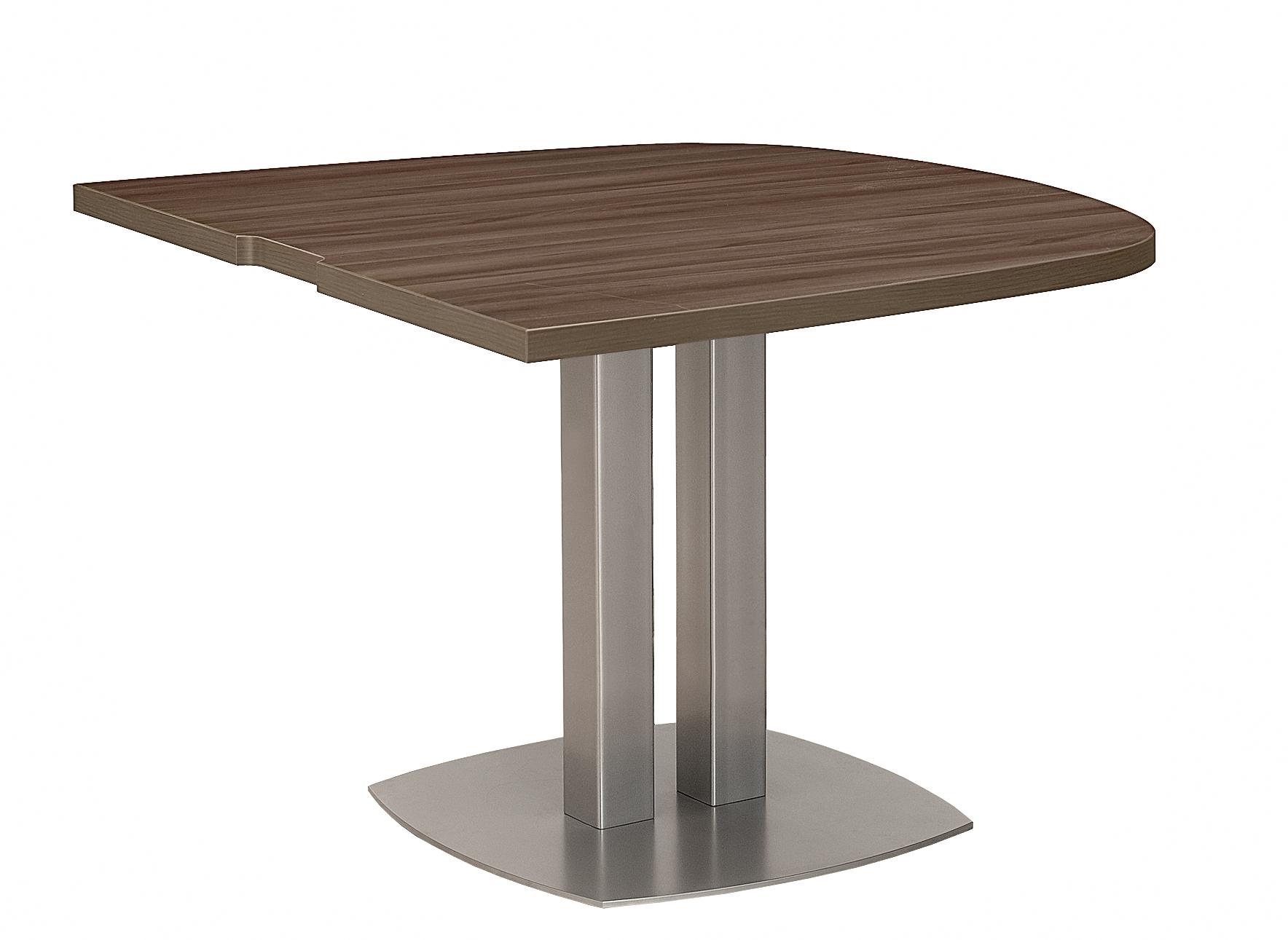 VERMONT NOYER TABLE ½ OVALE PIED MÉTAL GRIS