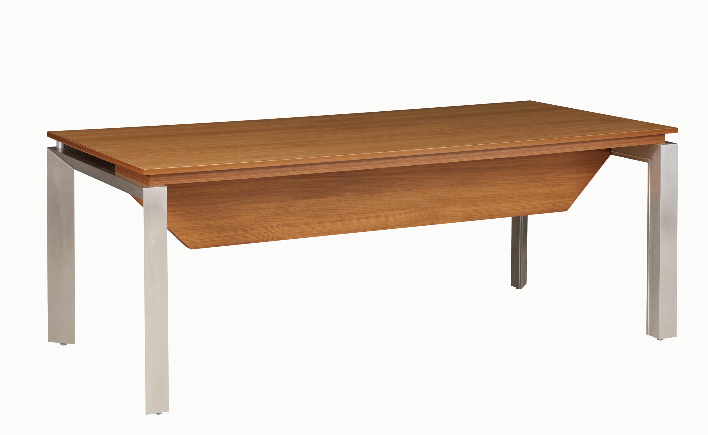 Sliver noyer bureau bois cm voile de fond mobilier de