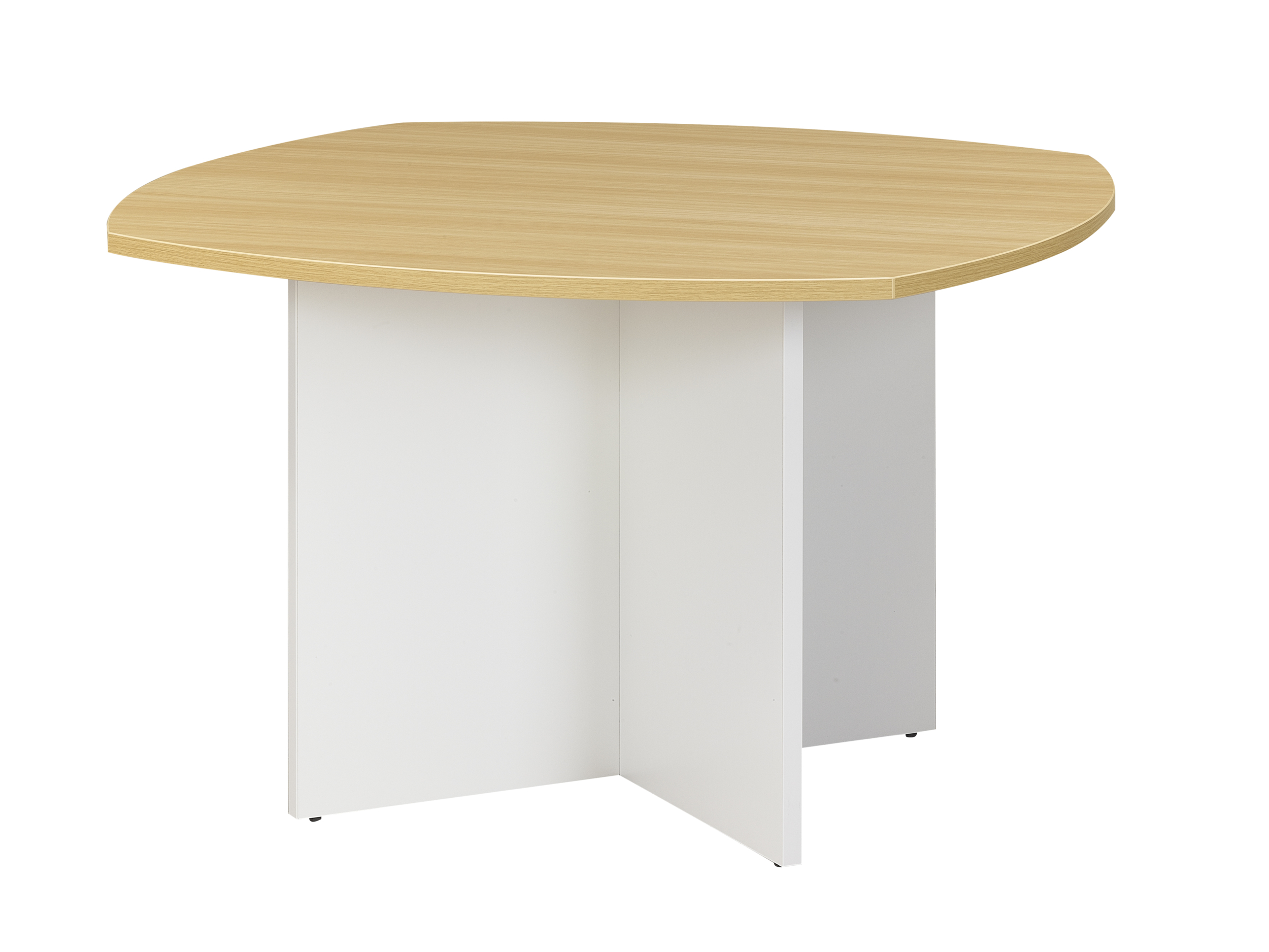 SUNDAY CHENE TABLE RONDE PIED BLANC