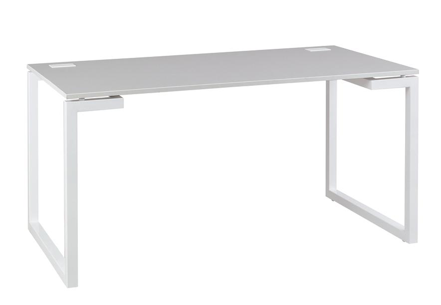 sunday gris bureau pieds cadre 140cm bureaux bureau. Black Bedroom Furniture Sets. Home Design Ideas