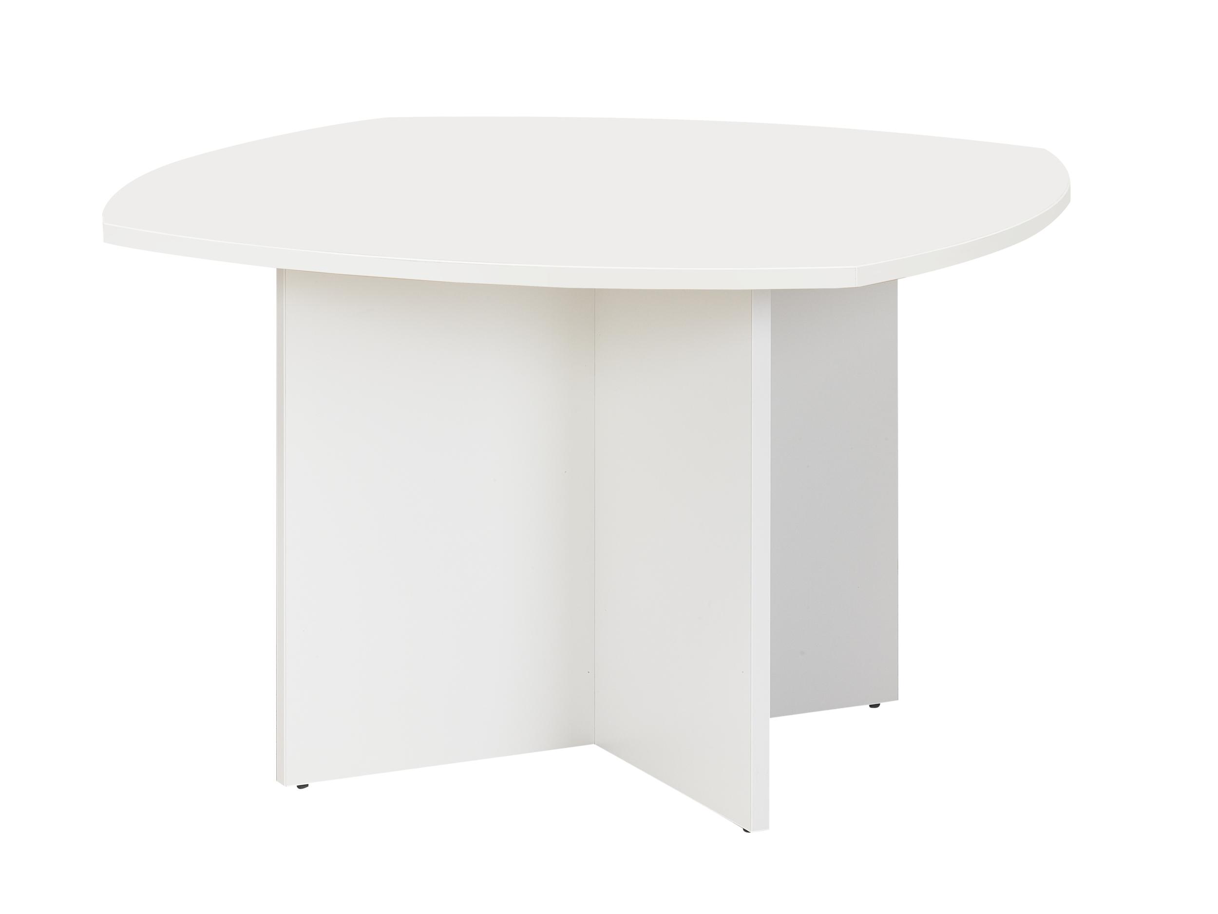 TABLE BLANCHE PIED PANNEAUX BLANC