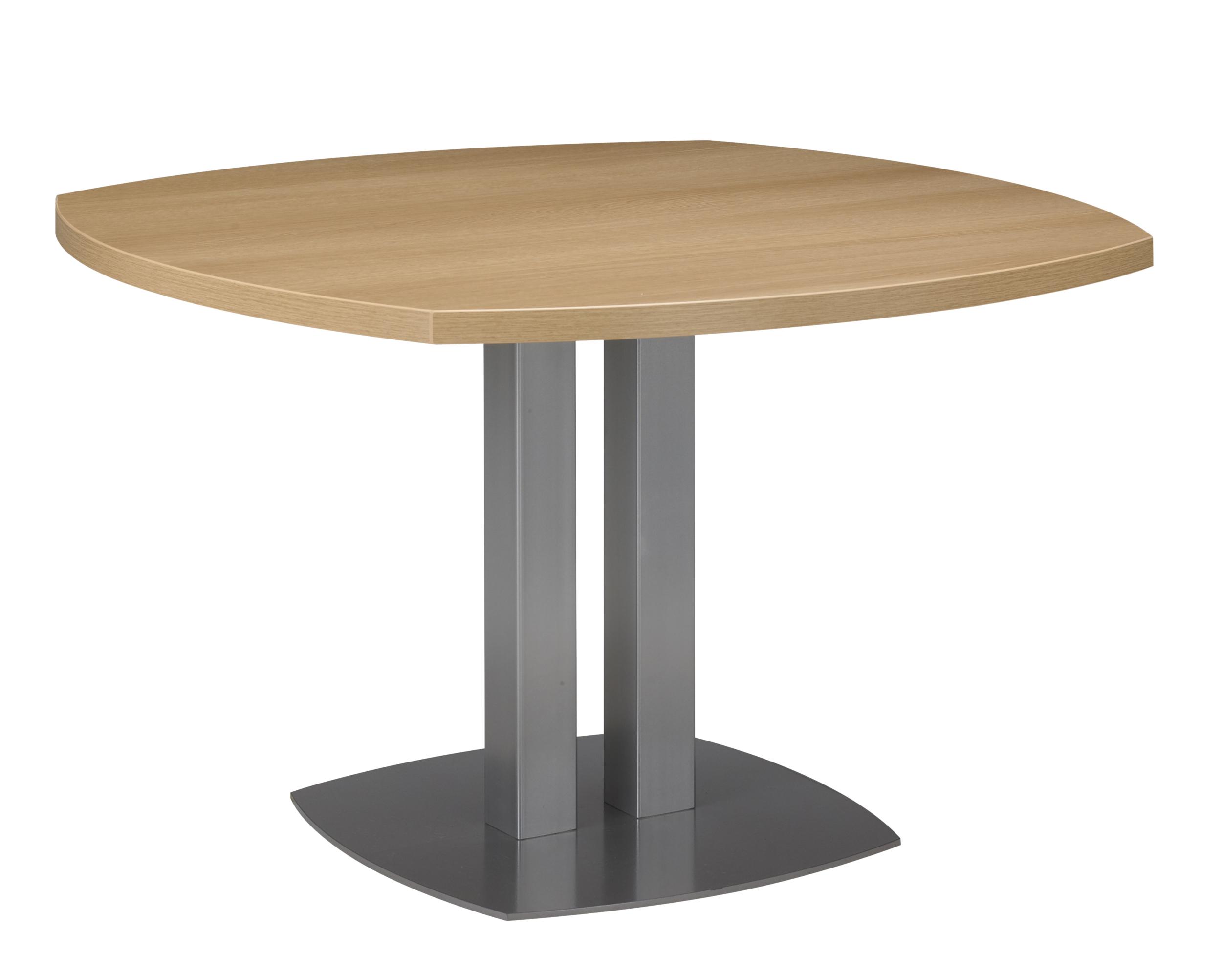 SLIVER CHÊNE TABLE COURBÉE PIED MÉTAL GRIS