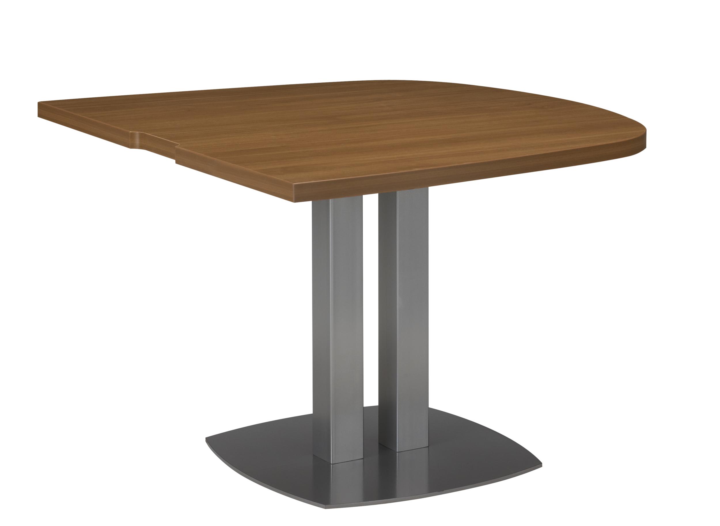 SLIVER NOYER TABLE ½ OVALE