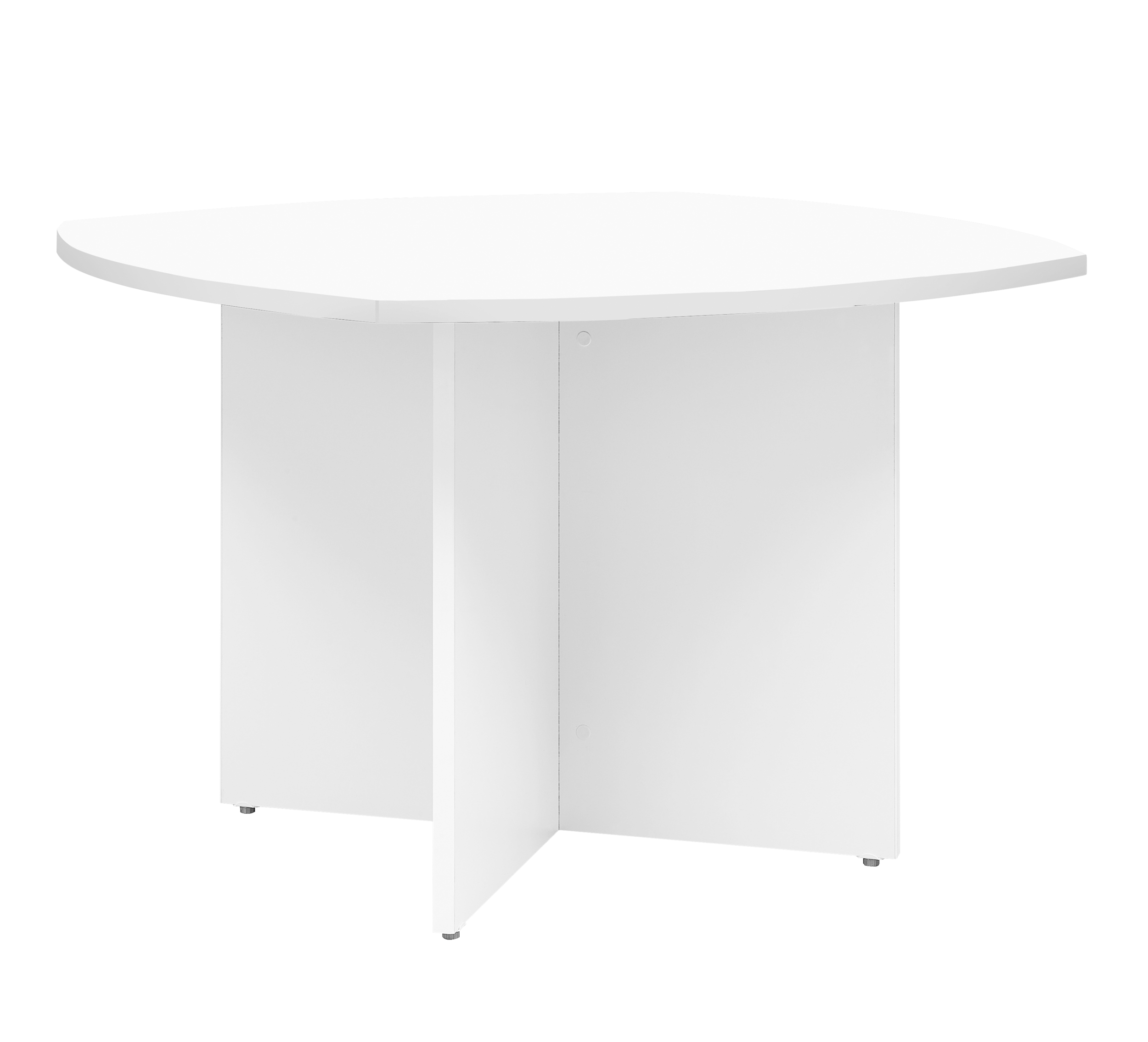YES/XERUS TABLE BLANCHE PIED PANNEAUX BLANC