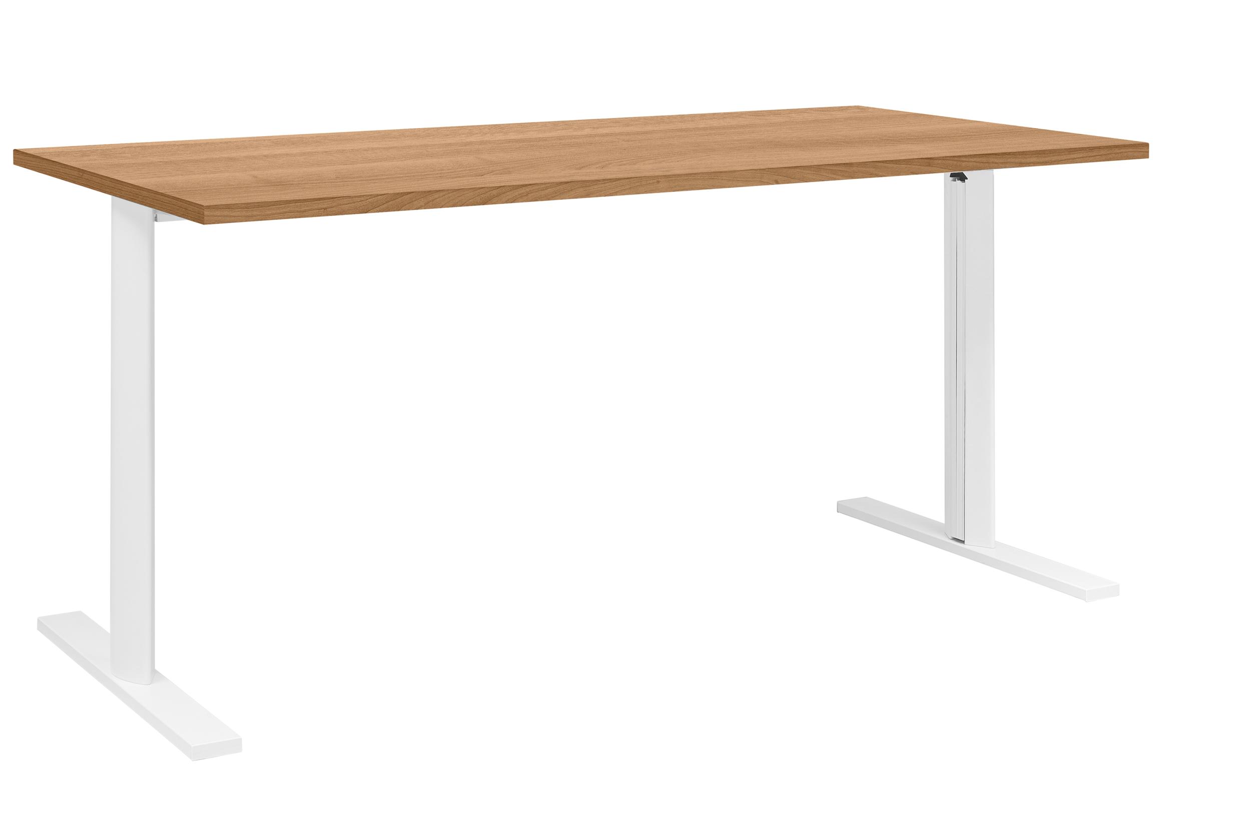 YES/XERUS MERISIER TABLE DE RÉUNION PIEDS BLANCS 120CM