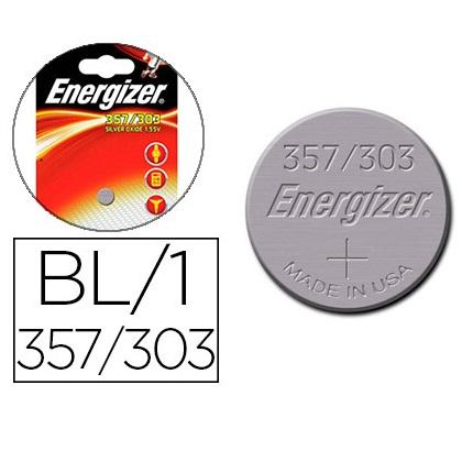 ENERGIZER PILES BOUTON 357/303