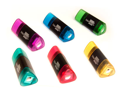 TAILLE-CRAYONS + GOMME DUPLO TRIANGULAIRE