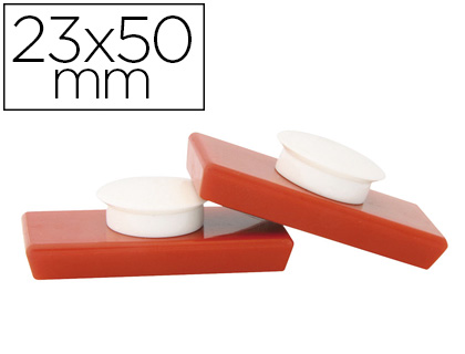 AIMANTS SUPERPUISSANTS 23X50MM ROUGE
