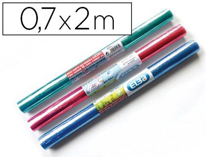 COUVRE-LIVRES PVC 0.7x2M COLORIS ASSORTIS