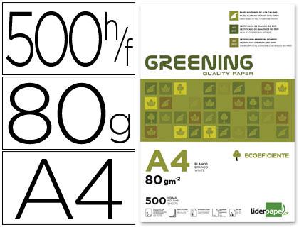 LIDERPAPEL GREENING A4 80G
