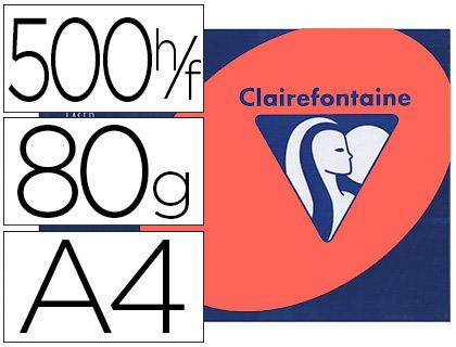 CLAIREFONTAINE TROPHÉE PÈCHE A4 80G