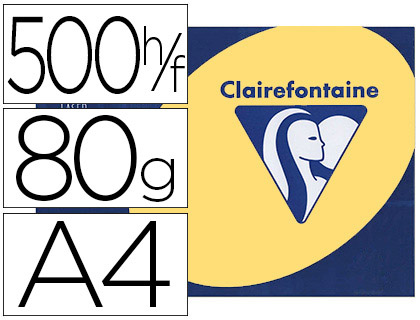 CLAIREFONTAINE TROPHÉE BOUTON D\'OR A4 80G