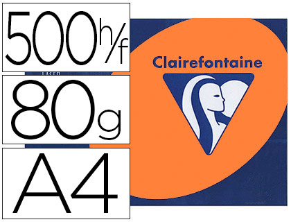 CLAIREFONTAINE TROPHÉE ORANGE VIF A4 80G