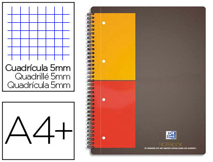 NOTEBOOK A4+ 160 PAGES PETITS CARREAUX