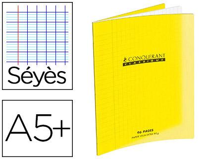 PIQUÉ POLYPRO 17X22CM 48 PAGES SÉYÈS JAUNE