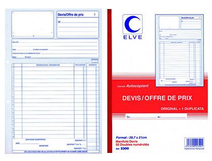 DEVIS OFFRE DE PRIX 50 DUPLIS A4