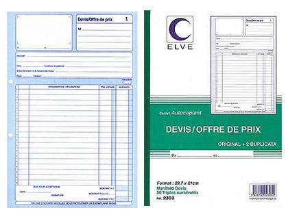 DEVIS OFFRE DE PRIX 50 TRIPLIS A4