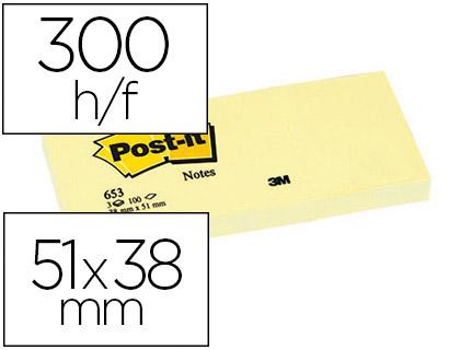 POST-IT N°653 38X51MM PACK DE 3