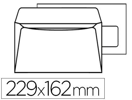500 ENVELOPPES C5 90g ADHÉSIVES AVEC FENÊTRE 45x100mm