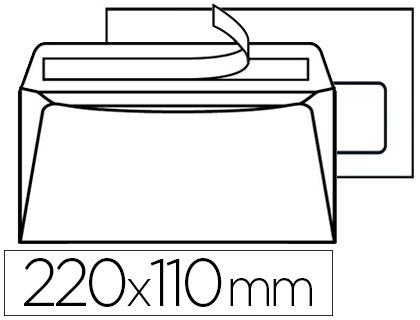500 ENVELOPPES DL 80g ADHÉSIVES AVEC FENÊTRE 35x100mm