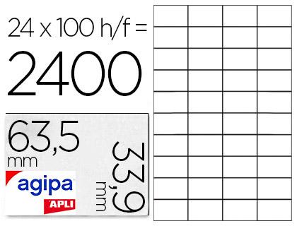 AGIPA ÉTIQUETTES COINS ARRONDIS 63,5x33,9mm