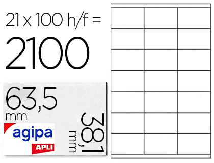 AGIPA ÉTIQUETTES COINS ARRONDIS 63,5x38,1mm