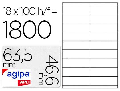 AGIPA ÉTIQUETTES COINS ARRONDIS 63,5x46,6mm