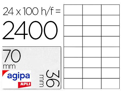 AGIPA ÉTIQUETTES  COINS DROITS 70x36mm