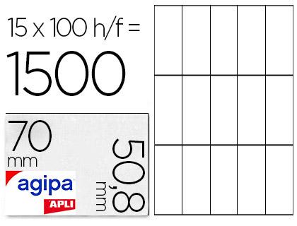 AGIPA ÉTIQUETTES  COINS DROITS 70x50,8mm