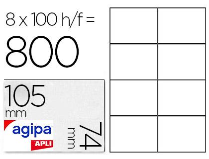 AGIPA ÉTIQUETTES  COINS DROITS 105x74mm