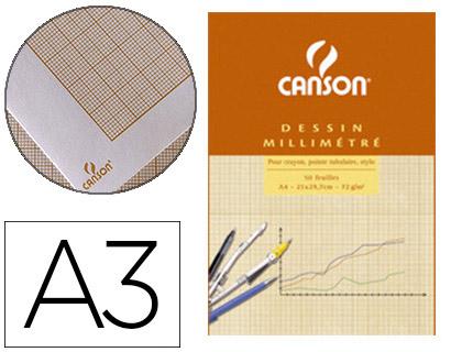 CANSON 50 FEUILLES MILLIMÉTRÉ A3