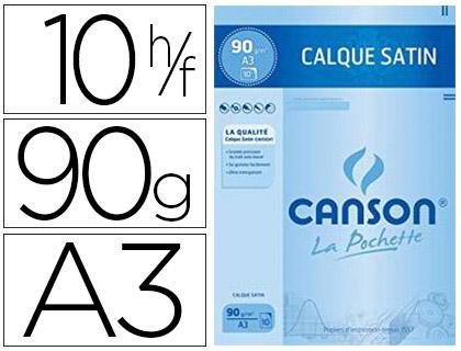 CANSON CALQUE 10 FEUILLES A3 90/95g