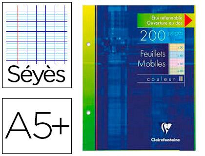 CLAIREFONTAINE A5+ PERFORÉS PACK DE 100 FEUILLETS ASSORTIS
