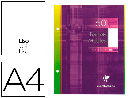 CLAIREFONTAINE A4 PERFORÉS PACK DE 60 FEUILLETS A DESSIN