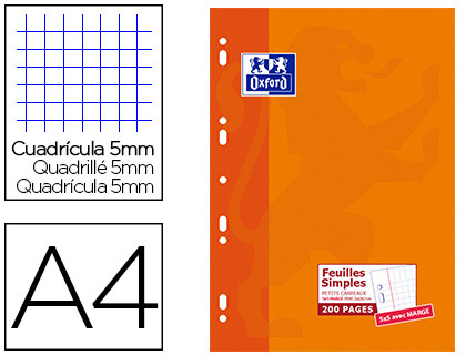 OXFORD A4 PERFORÉS PACK DE 200 FEUILLETS