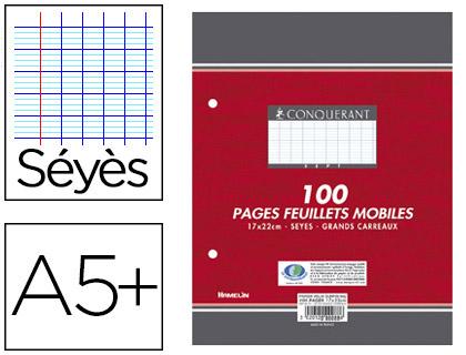 CONQUERANT A5+ PERFORÉS PACK DE 100 FEUILLETS