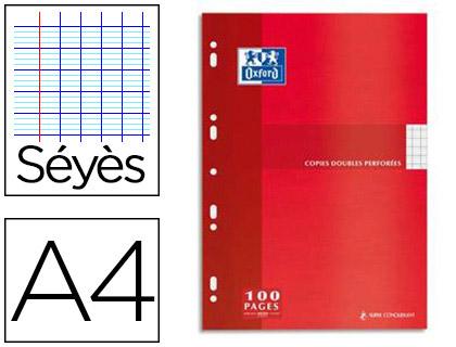 OXFORD A4 PERFORÉS PACK DE 100 COPIES DOUBLES
