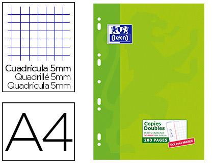 OXFORD A4 PERFORÉS PACK DE 200 COPIES DOUBLES