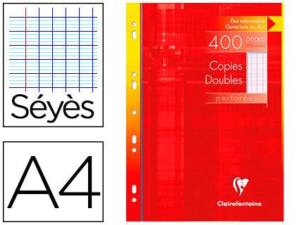 CLAIREFONTAINE A4 PERFORÉS PACK DE 400 COPIES DOUBLES