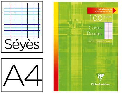 CLAIREFONTAINE A4 NON PERFORÉS PACK DE 100 COPIES DOUBLES
