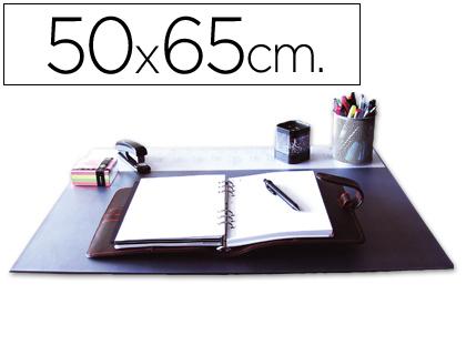 SOUS-MAINS PVC NOIR AVEC RABAT TRANSPARENT 50X65cm
