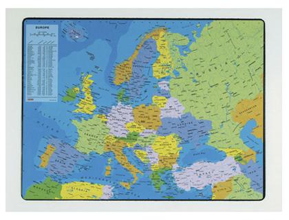 SOUS-MAINS PVC CARTE DE L\'EUROPE 40x63.5cm