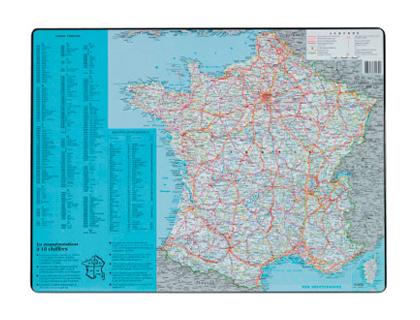 SOUS-MAINS PVC CARTE DE FRANCE 40x53cm