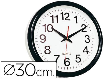 HORLOGE PVC NOIR Ø28cm